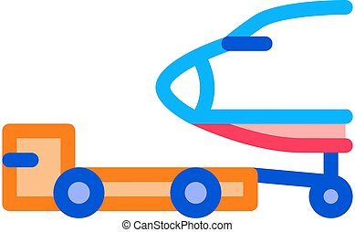 Plane Tow Truck Icon Vector Outline Illustration