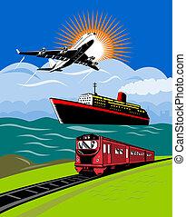 Illustration on travel and transport