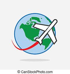 Plane Travel Around World