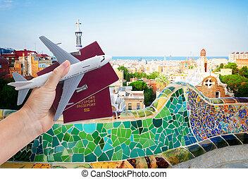 Plane travel concept