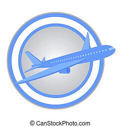 Plane travel - Design of plane travel icon