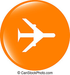 plane, travel web icon design element . Trendy flat style sign isolated on white background