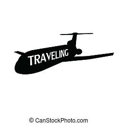 plane traveling illustration