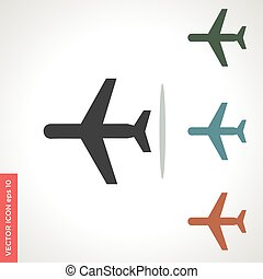 plane vector icon isolated on white background