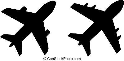 Plane vector icons set