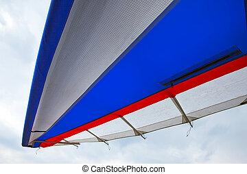 plane wing close-up