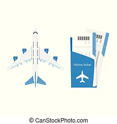 plane with airline tickets.