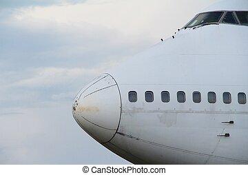 Plane with sky