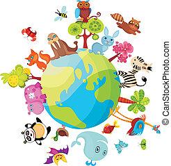 planeet, dieren