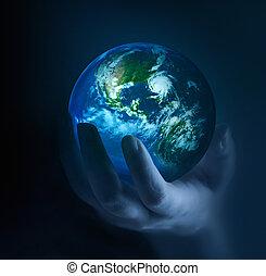 planeet, in het donker