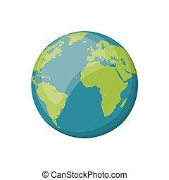 planeet land, beeld, ruimte