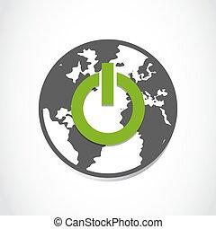 planeet land, groen macht