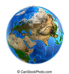 planeet land, landforms