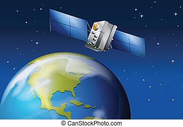planeet land, satelliet