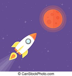 planeet, raket, mars