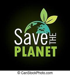 planeet, sparen, ontwerp