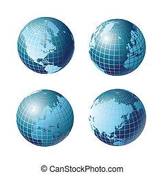 planeet, wereld, globaal, aarde, pictogram