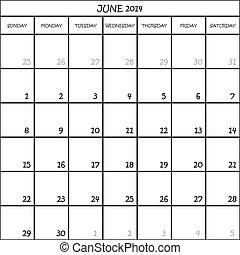 planer, juni, monat, hintergrund, 2014, kalender, durchsichtig