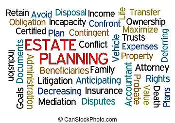 planerande, egendom