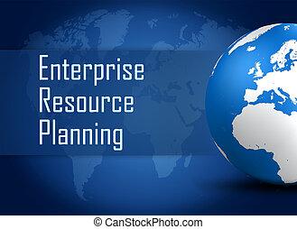planerande, resurs, företag