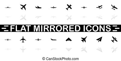 Planes - Flat Vector Icons