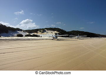 Planes on the beach