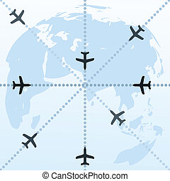 Planes over the world