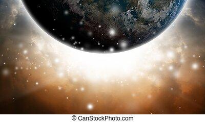 planet, abstrakt, himmelsgewölbe