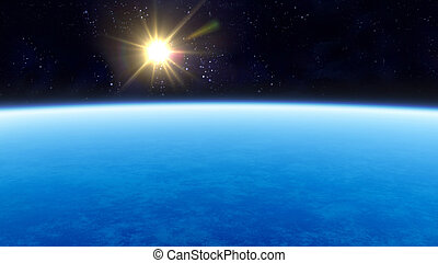 planet and star flare