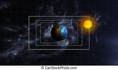 Planet Approach - Navigation patterns guide towards an alien...