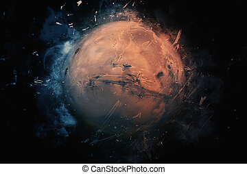 Planet Art - Mars. Elements of this image furnished by NASA