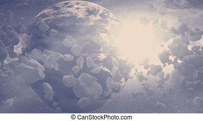 Planet - Asteroid Field