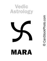 planet, astrology:, astral, mara