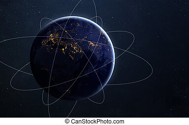 planet, ausstellung, elemente, stern, möbliert, dieser, erdball, raum, gelände, clouds., hoch, feld, nasa, welt, erde, ansicht., auflösung, bild