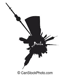 Planet Berlin circular silhouette