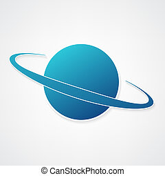 planet blue icon