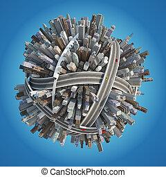 Planet City 3D (version 06\2) - Cartoon Planet City 3D...