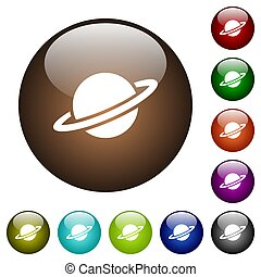 Planet color glass buttons