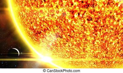 Planet Dwarfed by Sun