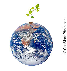 Planet earth as symbol of nature conservation. Elements of this image furnished by NASA