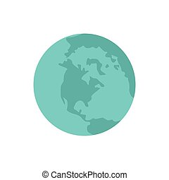 planet earth blue world icon