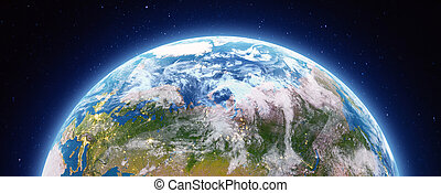 Planet Earth city lights. Elements of this image furnished ...
