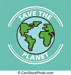 planet earth design, vector illustration eps10 graphic