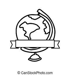 planet earth desk icon