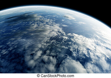 Planet earth  - planet earth seen from space