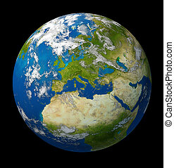 Planet Earth featuring Europe and European union countries...