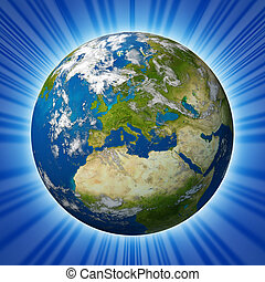 Planet Earth featuring Glowing Europe - Planet Earth...