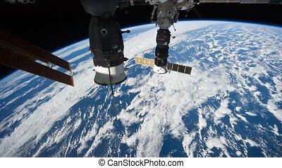 Planet Earth from satellite Progress - NASA - APR 17: Planet...