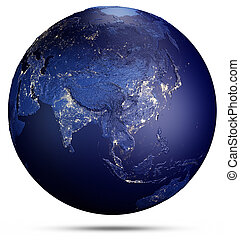 Planet Earth from space. 3d rendering