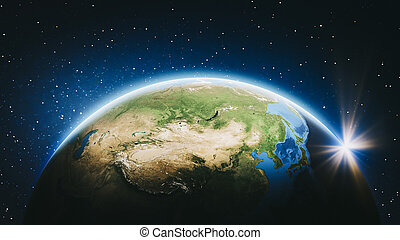 Planet Earth from space - East Asia